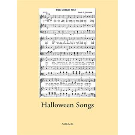Halloween Songs - eBook for $<!---->