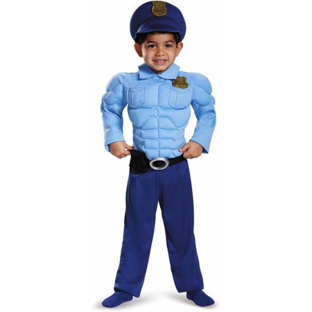 Police Toddler Muscle Costume