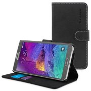 Snugg Black Leather Galaxy Note 4 Case