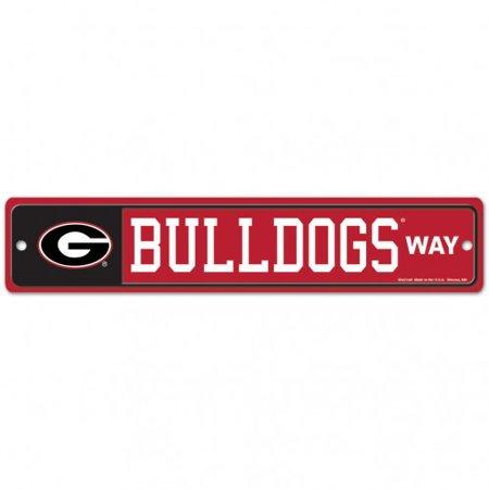 Georgia Bulldogs Neon Sign (Georgia Bulldogs Official NCAA 4 inch x 17 inch  Plastic Street Sign by)