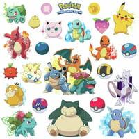 Pokemon Iconic 24 Wall Decals Room Decorations Pikachu Pokeball Decor Stickers