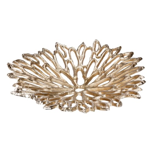 CHRYSANTHEMUM PLATTER SMALL SILVER