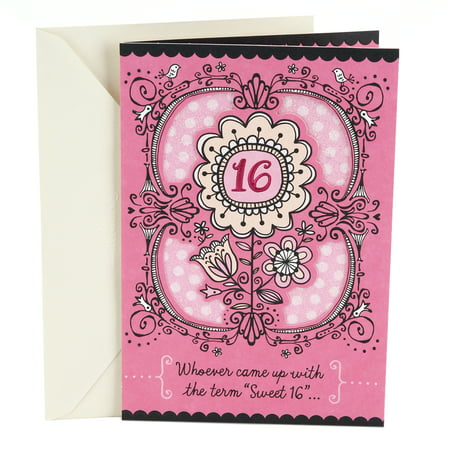 Hallmark 16th Birthday Greeting Card (Sweet Flowers)](Sweet 16th Birthday Ideas)