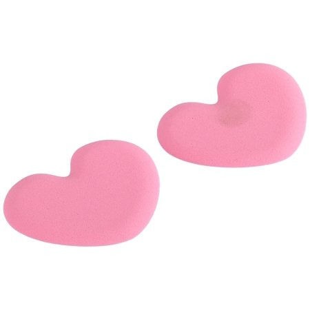 Single Foot (Tip Toes Foot Cushions-Pink Hearts-1 pair, Single Pair of Heart Tip Toes in Pink By Foot Petals)