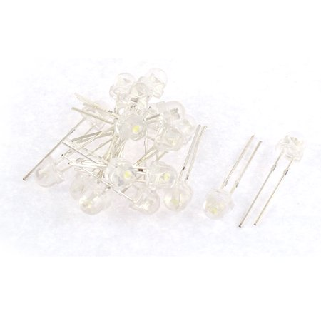 20pcs 5mm White Light LED Lamp Emitting Diodes Bulbs Component - image 3 of 3