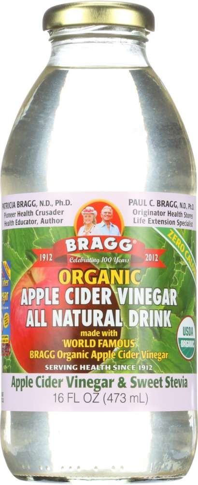 Bragg Organic Apple Cider Vinegar & Sweet Stevia All Natural Drink, 16.0 FL OZ by Bragg