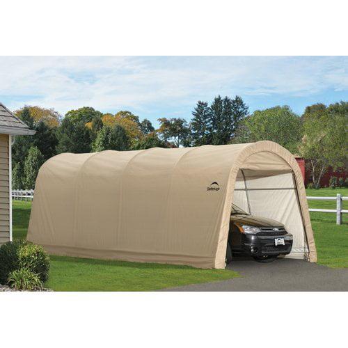Shelterlogic Auto Shelter 10' x 15' x 8' RoundTop Instant Garage, Sandstone by ShelterLogic