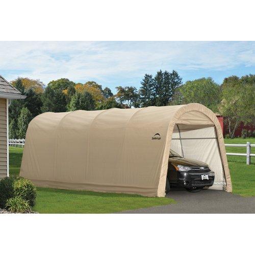 Shelterlogic Auto Shelter 10' x 15' x 8' RoundTop Instant Garage, Sandstone