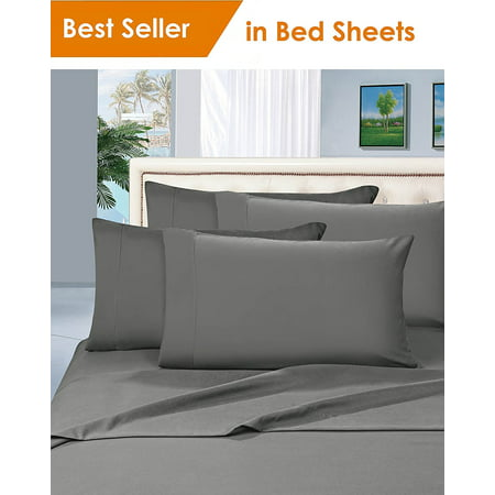 Elegant Comfort? 1500 Thread Count Egyptian Quality 2pcs PILLOW CASES - ALL SIZES AND COLORS, Queen, Gray - image 1 de 2