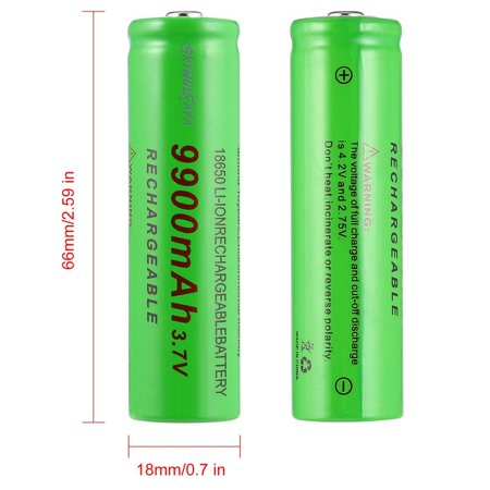 3.7V 18650 9900mAh Capacity Rechargeable Li-ion Battery Charger for Flashlight - image 7 de 8