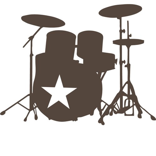 The Decal Guru Star Drummer Wall Decal