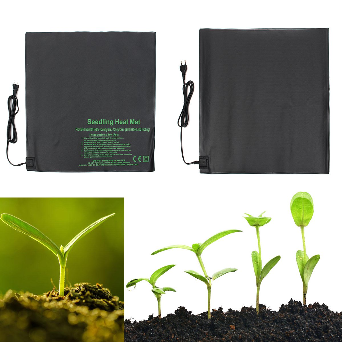 4 Sizes Heat-Sprout Seedling Seed Heat Mat Sprouting Propagation Germination