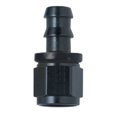 Squirrelly -6AN Black Straight Socketless Push Lock Hose End Fitting (Parker Push Lock Hose)