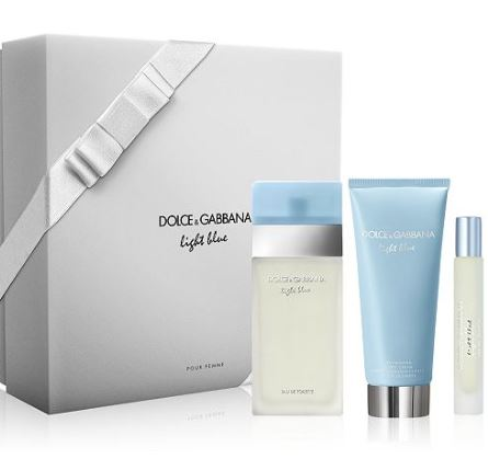 Dolce & Gabbana Light Blue Perfume Gift Set for Women - 3 Pc