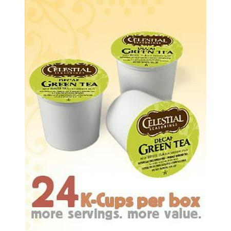 Celestial Seasonings Decaf Green Tea 24 K Cups  Pack Of 4  For Keurig Brewing Systems