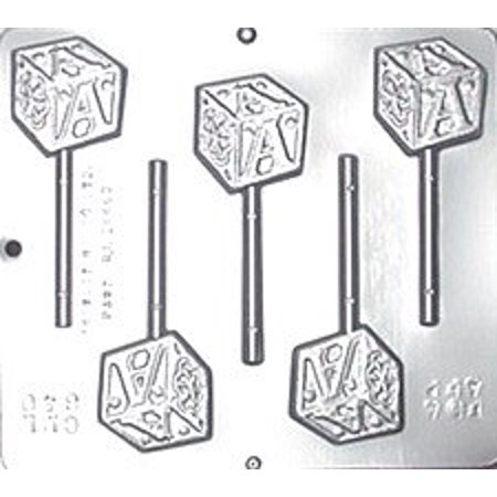 640 Baby Block Lollipop Chocolate Candy Mold](Lollipop Molds Baby Shower)
