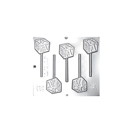 640 Baby Block Lollipop Chocolate Candy Mold Baby Shower Lollipop Molds