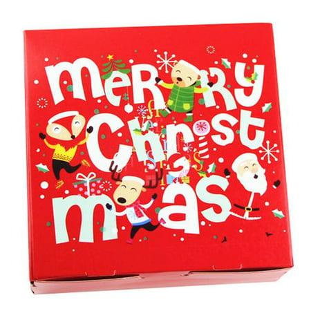 Fancyleo Christmas Handmade Diy Burritos Packing Candy Nut Dried Fruit Cake Empty Gift Box ()