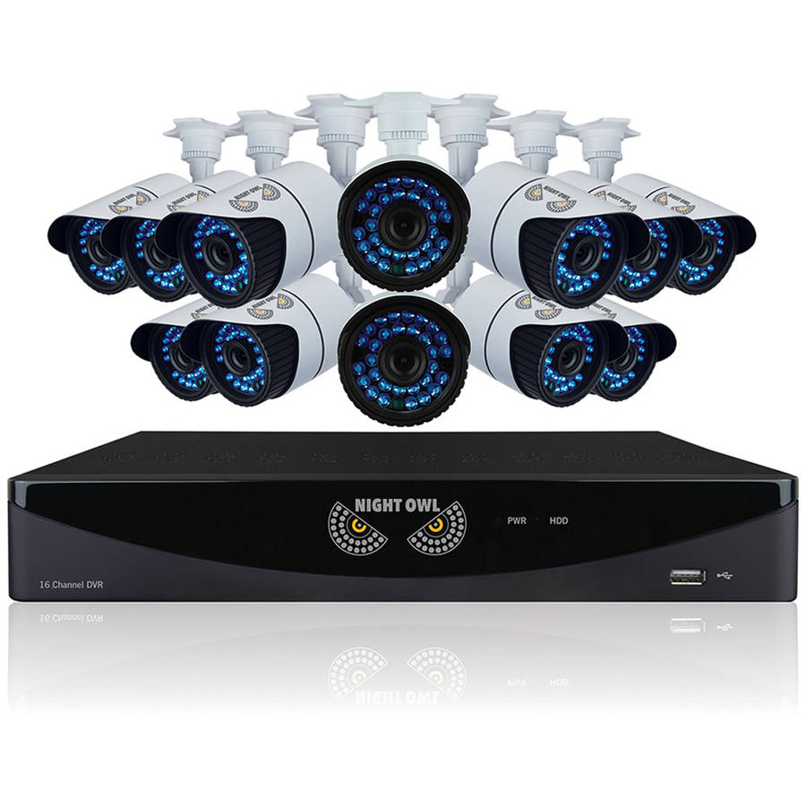 Night Owl B-F900-161-12 16-Channel Video Security System with 12 High-Resolution 900 TVL Bullet Cameras