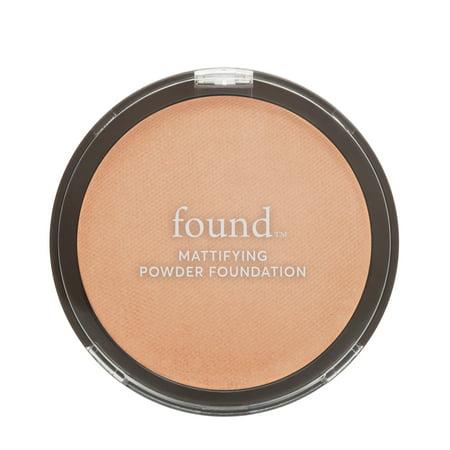 FOUND Mattifying Powder Foundation with Rosemary, 140 Medium, 0.28 fl -