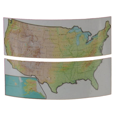 Giant USA Map Wall Decal Sticker Repositional Classroom Decoration](Classroom Wall Decorations)