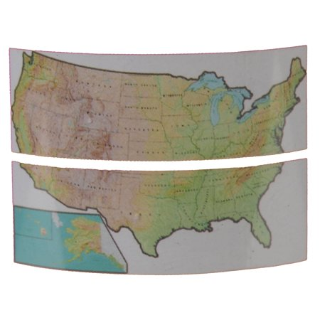 Giant USA Map Wall Decal Sticker Repositional Classroom Decoration