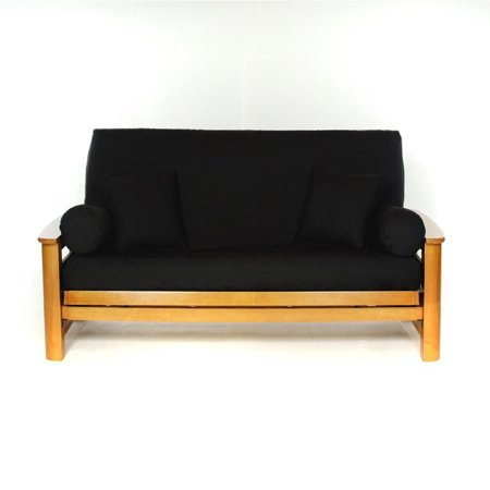 ls covers black full futon cover full size fits 6 8in