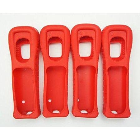 4X Nintendo Wii Remote Wiimote Cover Jacket Skin RED Mario (4 Pack) (Mario Wii Remote)