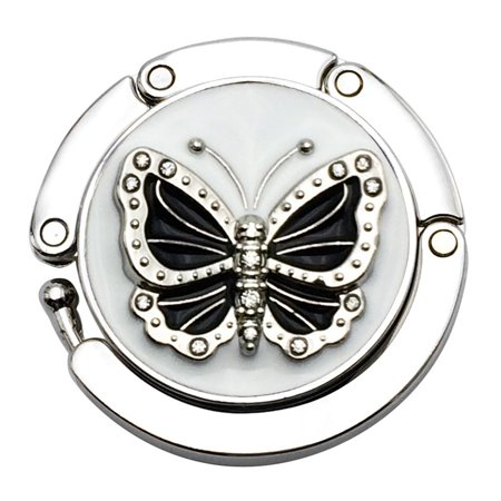 Handbag Table Holder (Mini Butterfly Beetle Folding Hanger Holder Table Hook for Purse Handbag)