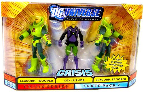 Mattel DC Universe Infinite Heroes 3 Pack Gotham ~ Lexcorp Trooper   Lex Luthor   Lexcorp... by Mattel