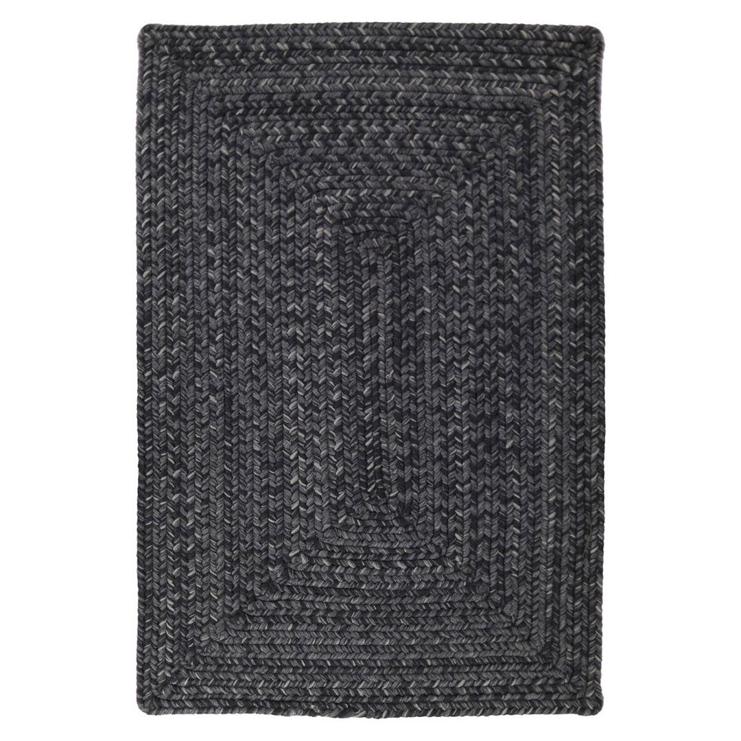 Homespice Black Braided Rectangle Rug - (2 foot 6 inch x 6 foot)