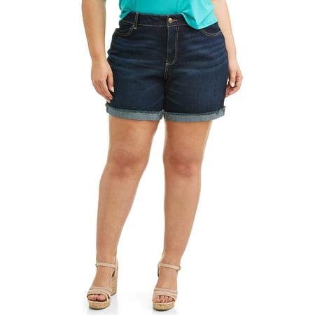 Women's Plus Size 7 inch 4 Pocket Denim Classic Short