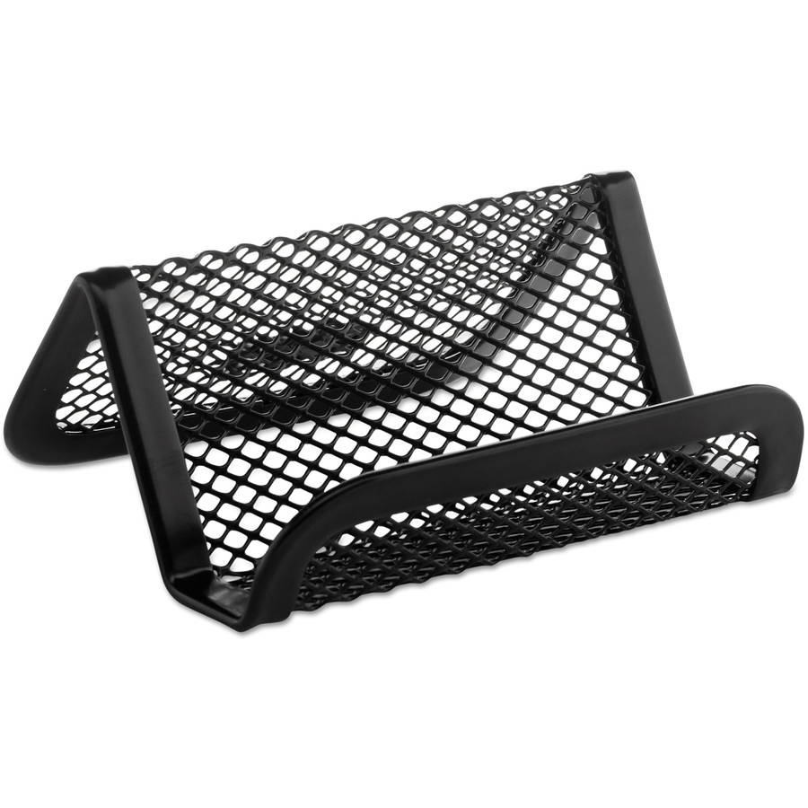 Rolodex Mesh Business Card Holder, 50-Card Capacity, Black