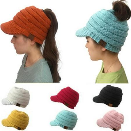 2018 Adult CC Labeling Horsetail Hat Duck Tongue Hollowed Hat Hat Cap](Daisy Duck Hat)