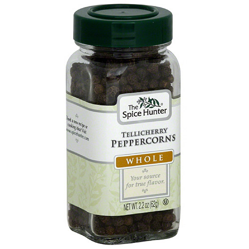 The Spice Hunter Whole Tellicherry Peppercorns, 2.2 oz, (Pack of 6)