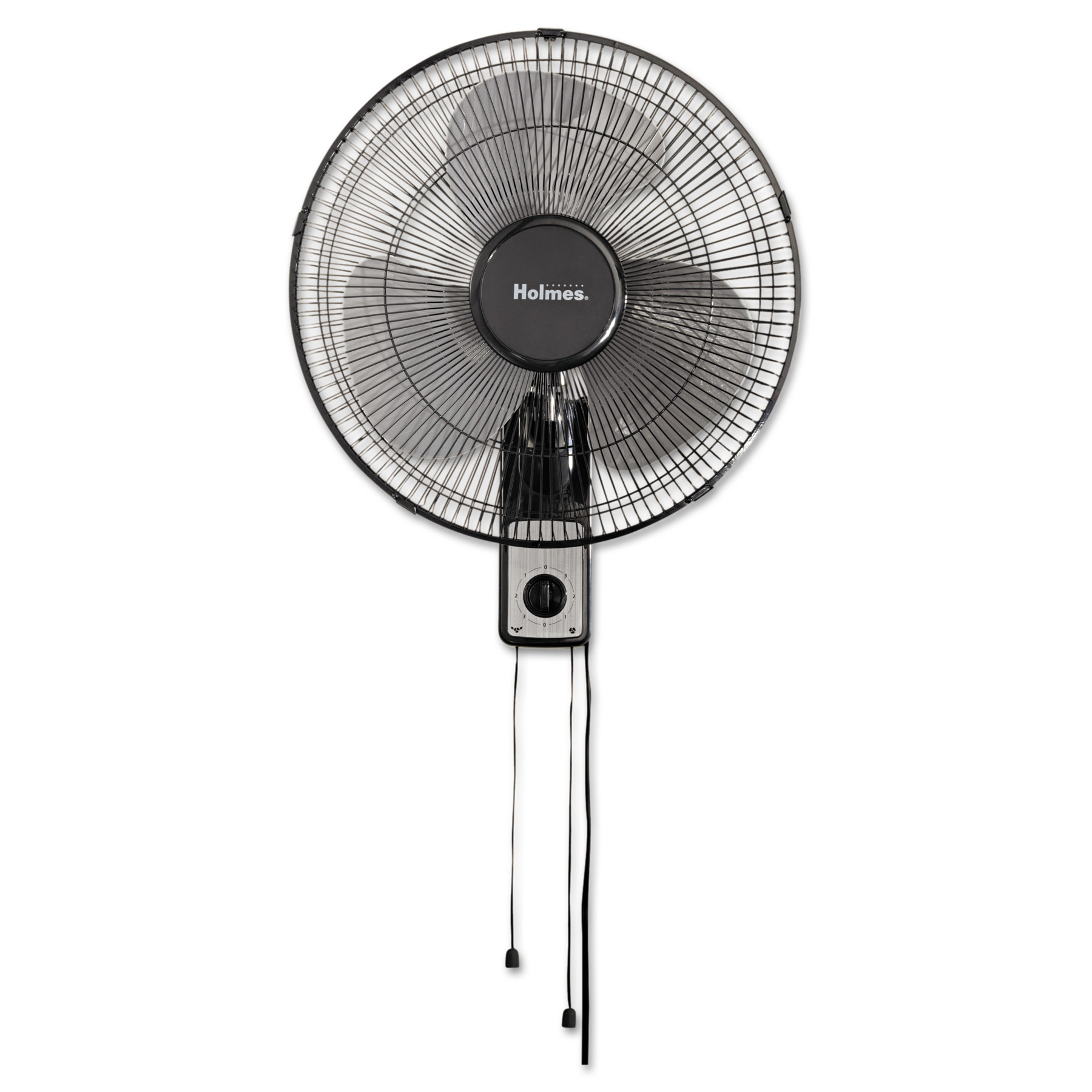 "Holmes 16"" Wall Mount Fan, 3-Speed, Metal, Black"