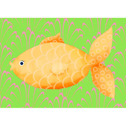 Oopsy Daisy's Mia the Fish Canvas Wall Art, Size 14x10