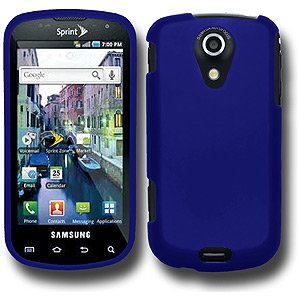 Rubberized Blue Snap - Rubberized Protector Hard Shell Snap On Case for Samsung Epic 4G, Sprint Samsung Epic 4G - Blue