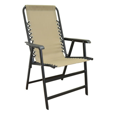Caravan Global Sports Suspension Beige Folding - Retro Metal Lawn Chair