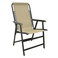 Product Image Caravan Global Sports Suspension Beige Folding Chair