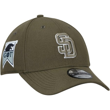 San Diego Padres New Era Game of Thrones 9FORTY Adjustable Hat - Green - OSFA (San Diego State Halloween Game)