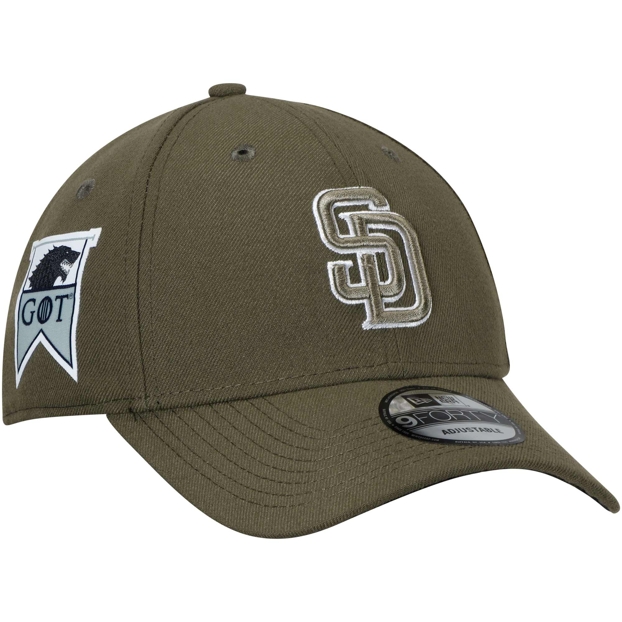 San Diego Padres New Era Game of Thrones 9FORTY Adjustable Hat - Green - OSFA