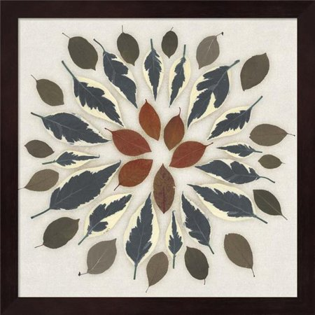 Metaverse R949236-0120000-AEAAAADAN4 13.25 x 13.25 in. Leaf Pattern I Framed Wall Art by Edward
