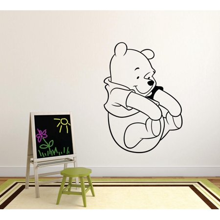Winnie The Pooh Happy Cartoon Characters Silhouette Baby Nursery Room Boy Girl Custom Wall Decal Vinyl Peel & Stick Sticker 12 Inches X 12 - Baby Tv Characters