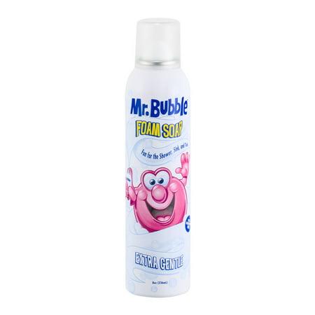 Mr  Bubble Foam Soap, Extra Gentle, Dye and Fragrance Free, 8 Oz