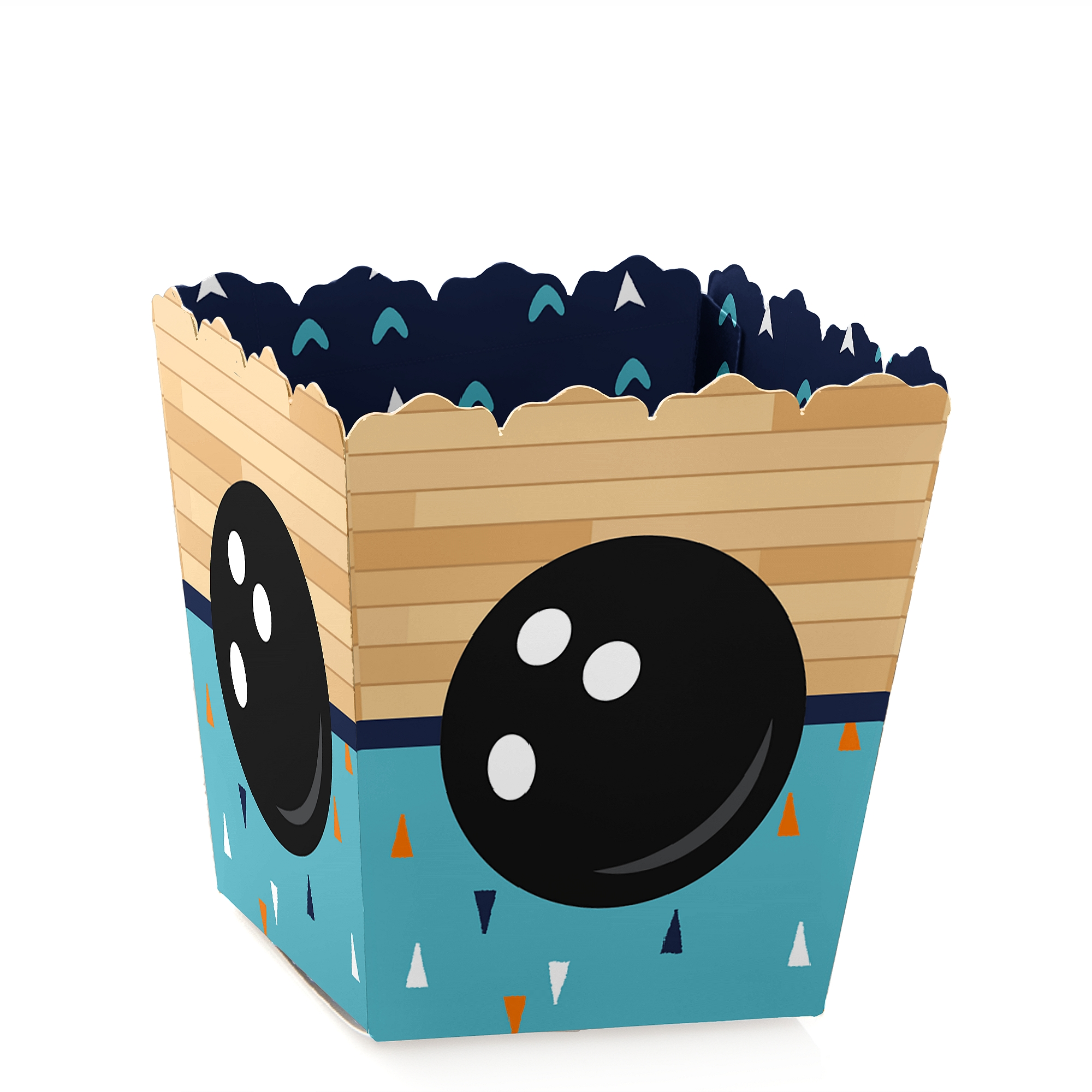 Bowling Party /& Birthday Favor Boxes 12 Pack - Movie Theatre Style Personalized Treat Box Strike Up the Fun Bowling Popcorn Boxes