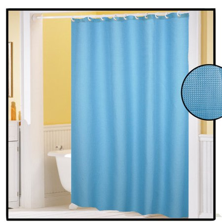 carnation home fashions waffle weave shower curtain