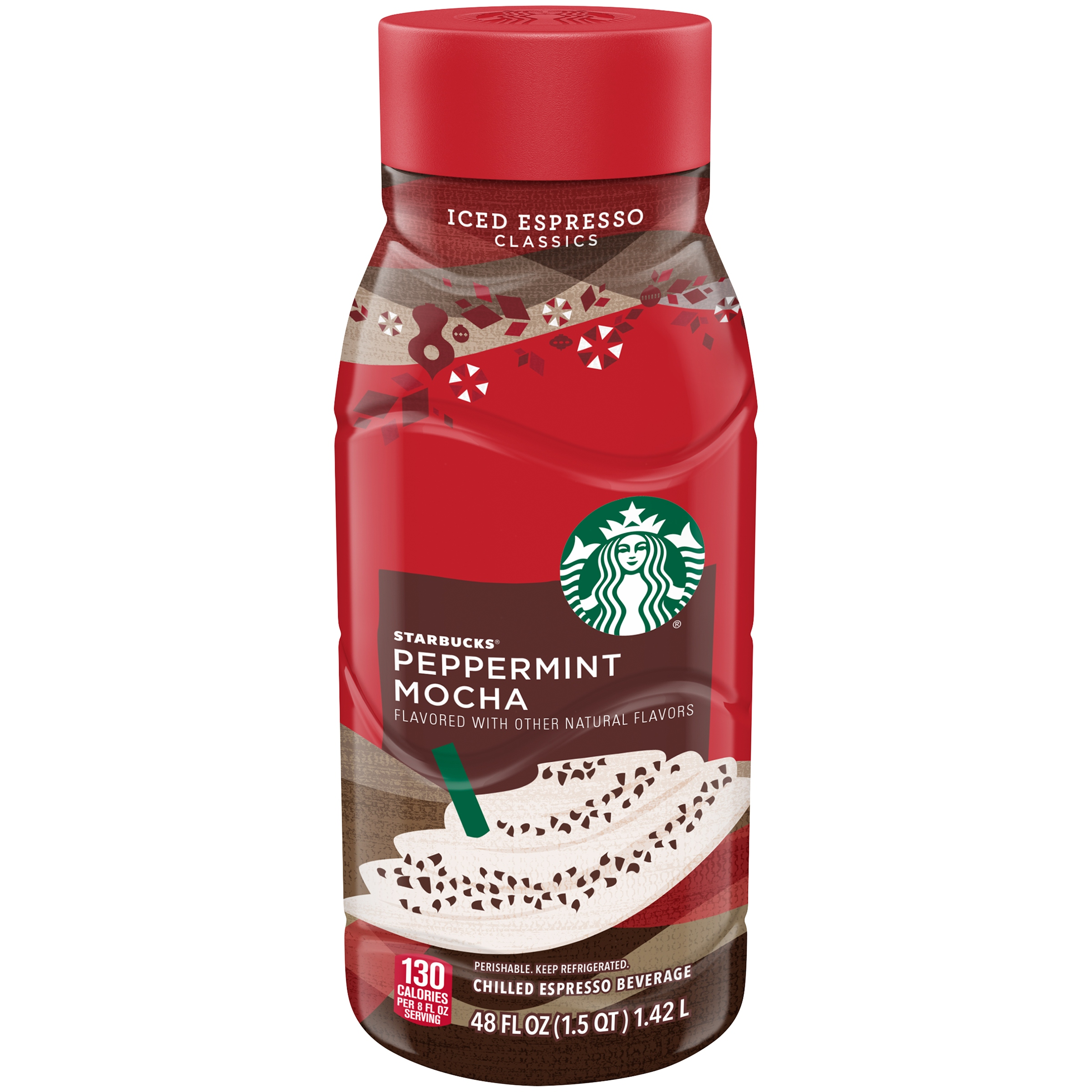 Starbucks Peppermint Mocha Chilled Espresso Beverage, 48 Fl. Oz.