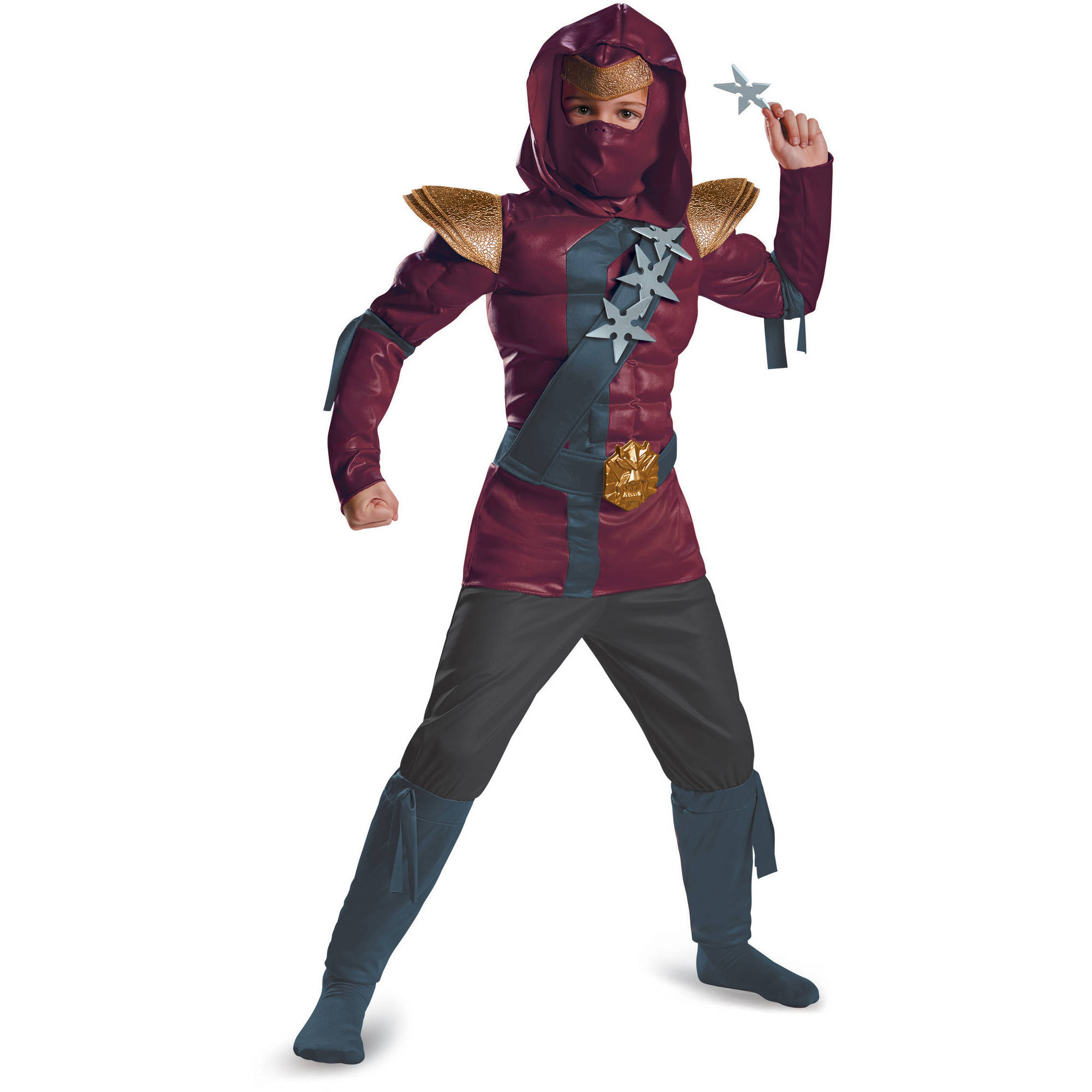 Crimsom Ninja Classic Muscle Child Halloween Costume by Disguise