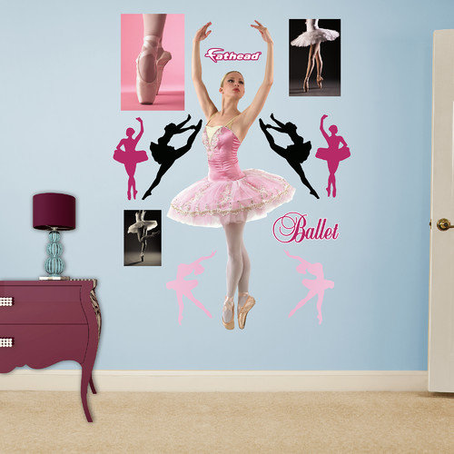 Fathead Ballerina Peel and Stick Wall Decal